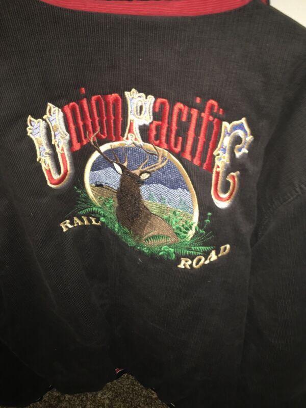 Union Pacific Coat/Jacket, XL, Railroad, Train, Snap Closures, Corduroy