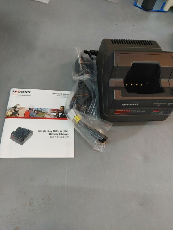 Harris Single Bay Battery Charger NEW CH-104560-026