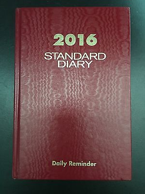 At-a-glance Standard Diary 2016 Daily Record Reminder Planner Organizer Red New