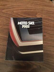 1981 Moto Ski factory brochure - vintage original