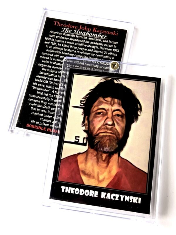Unabomber Ted Kaczynski Trading Card In Case