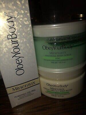 Obey Your body Purifying Peeling Gel, Kiwi body Scrub and body butter