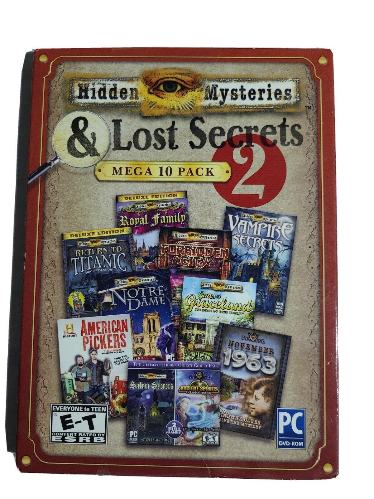 Computer Games - Hidden Mysteries & Lost Secrets Mega 10 Pack PC Games Windows 10 8 7 XP Computer