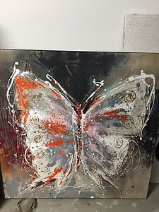 Large butterfly canvas Wavell Heights Brisbane North East Preview