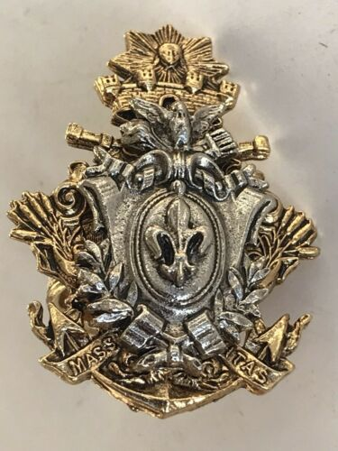 Vintage ART Armorial Coat Arms Blazon Crest Shield Fleur de Lis Pinky Ring 3.25