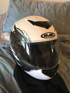 Almost brand new motorbike helmet