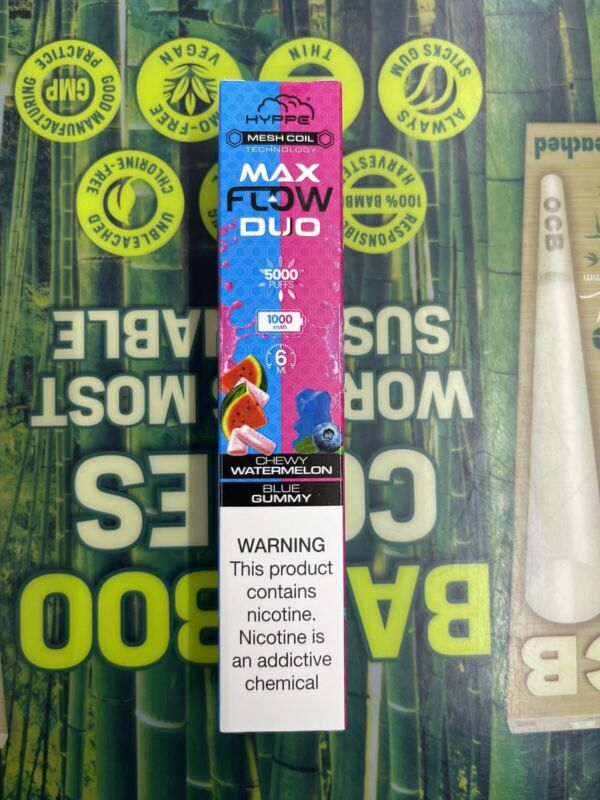 HYPPE Max Flow Duo 5000puffs Chewy Watermelon And Blue Gummy 5%N