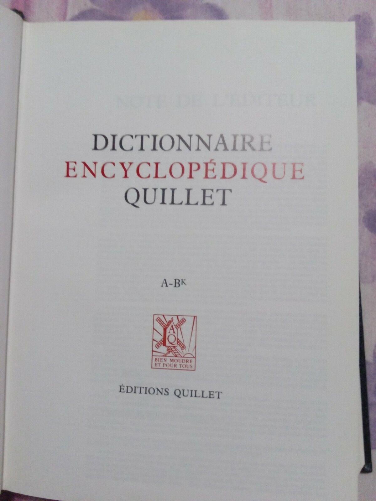 Dictionnaire encyclopÉdique quillet 10 volumes