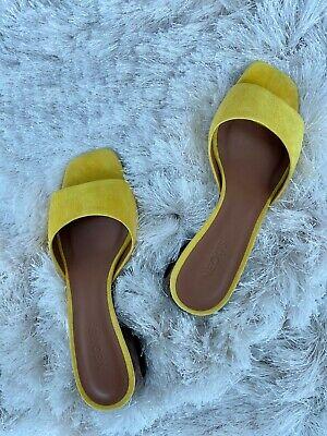 NEOUS Liparis Yellow Suede Slides Sandals 36
