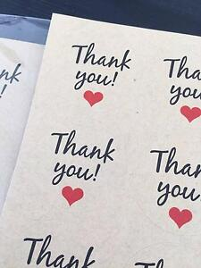 Thank you Stickers (13 pieces x 12) Meadowbank Ryde Area Preview