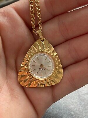 Ingersoll Simba Pendent Watch and chain - gold plated - Wind up