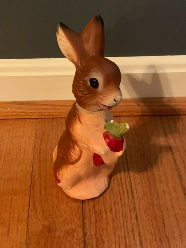 Vintage Paper Mache Rabbit Bunny Candy Container US Zone Germany