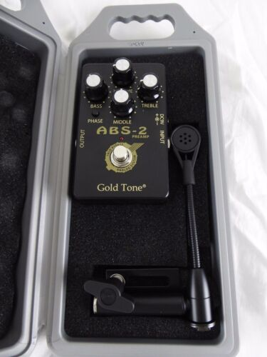 GOLD TONE ABS AMPLIFIED BANJO& RESONATOR GUITAR SYSTEM - NEW WITH HARD CASE