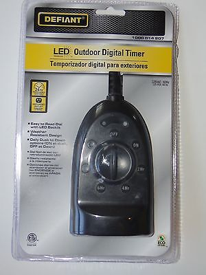 Defiant Outdoor Digital Led Timer Lot Of 11