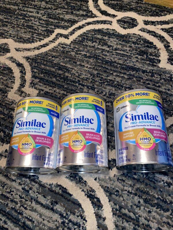 3 Similac Pro Advance Infant Formula with Iron Powder 36 Oz Exp:05/2022 Sealed