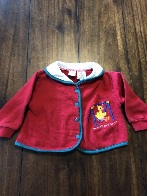 Vintage Baby Clothing Sesame Street Sweater Big Bird 3/6 Months Jim Hanson