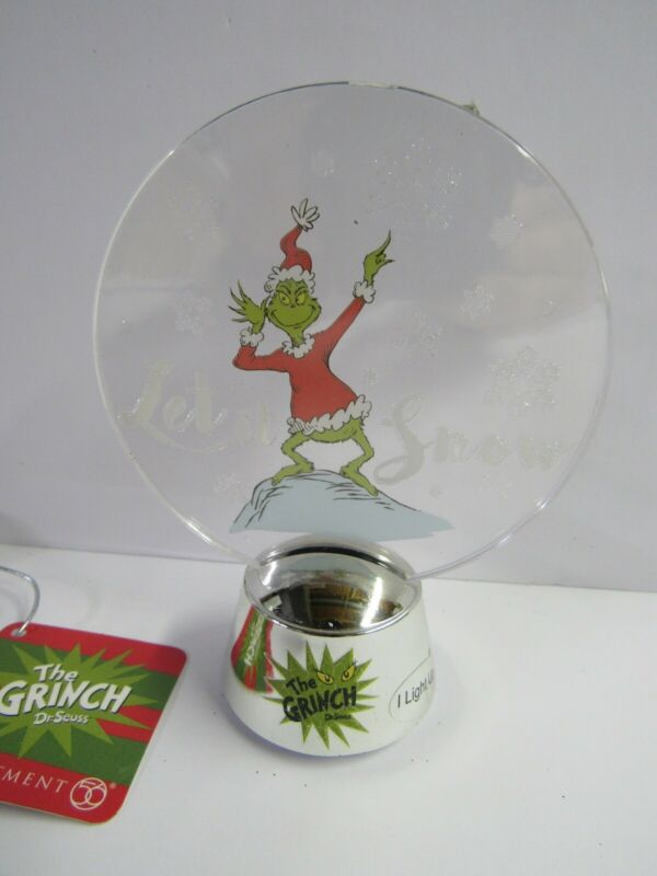 Dept 56 The Grinch Table Top Holidazzler 6000304 Lights Up