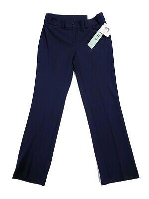 New Anne Klein Women's Petite Straight Leg Dress Pants Slacks Trousers Navy 4P