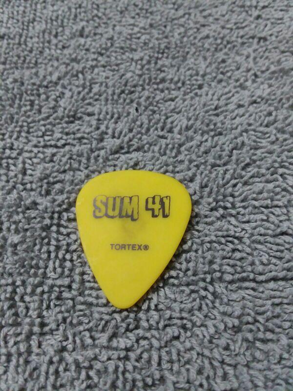 Sum 41 Deryck Whibley Bizzy D Yellow Guitar Pick - 2003 Tour