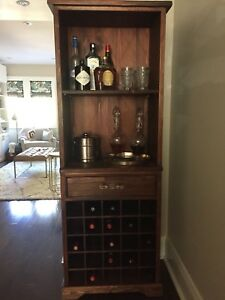 Bar and wine storage cabinet