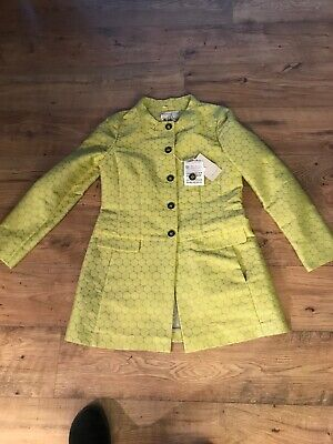 New With Tags Max Mara Iblues Jacquard Spot Coat £265 Size 14