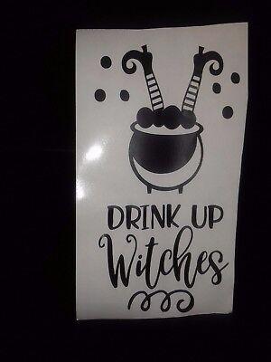 Halloween Inspired Vinyl Sticker for Wine Bottle - Drink up Witches - Halloween Inspired Drinks