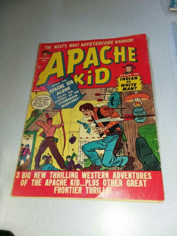 APACHE KID #4 TIMELY 1951 GOLDEN AGE MARVEL ATLAS COMICS WESTERN HERO 1950 SUPER