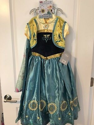 Frozen Disney Store Costume (2 In 1 Elsa And Anna) - Brand New With Tags (5/6) (Elsa And Anna Costume)