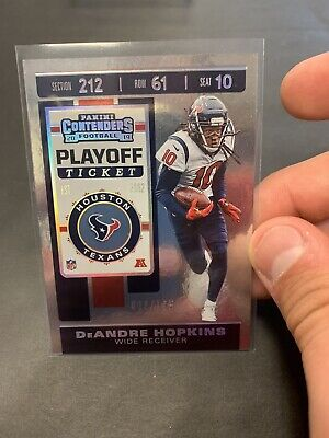 Deandre Hopkins Playoff Ticket 2/175 2019 Contenders