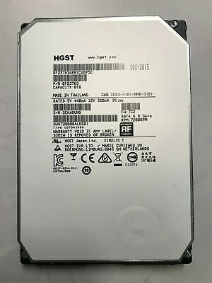 HGST Ultrastar He8 HUH728080ALE601 8TB 7200RPM QTY AVAILABLE