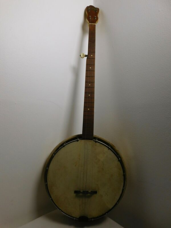 1930s KAY 5 String Banjo Aged White Bluegrass Guitar Classic Blues Country Folk