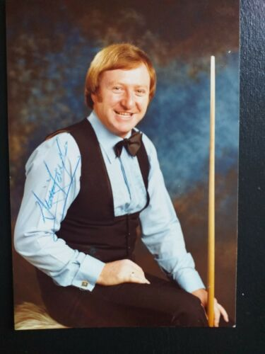 Signed postcard size photo of Snooker  world champion  DENNIS  TAYLOR