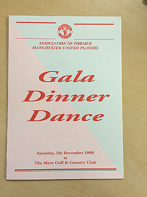 1998  Manchester United Ex Players Assoc. Christmas Gala  Dinner Menu