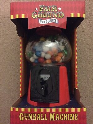 Fairground Gumball Machine - Red Classic Bubble Gum Machine NEW