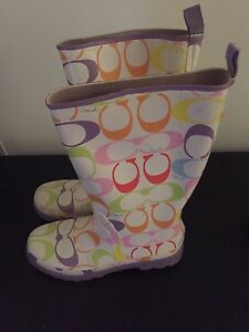 Never Worn Authentic Coach Rainboots/ Wellies  9