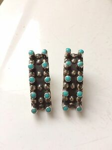 Silver-turquoise earrings