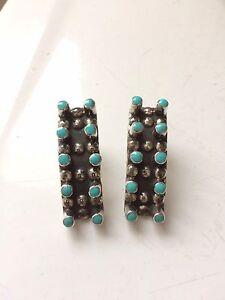 Silver-turquoise earrings