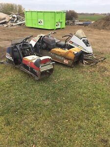 Pile of snowmobile