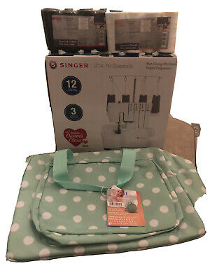 Singer S14-78 Overlock Sewing Machine with bonus thread & storage bag