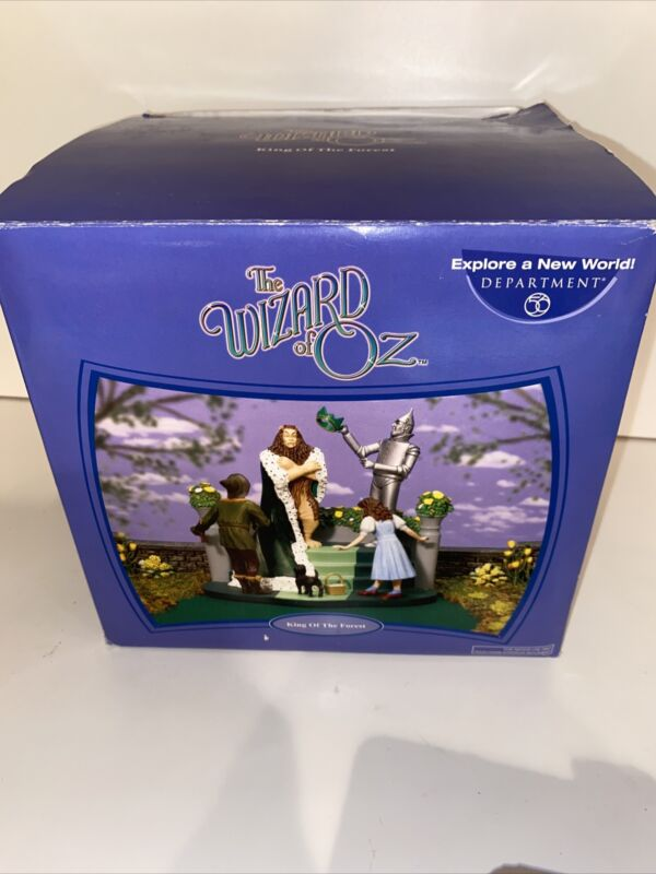 """DEPARTMENT 56 WIZARD OF OZ #56.59363 """"KING OF THE FOREST"""" NRFB"""