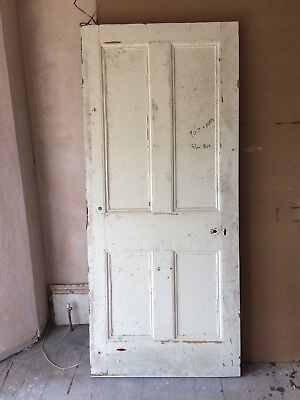 Very old big heavy Victorian four panel door - reclaimed from renovation project