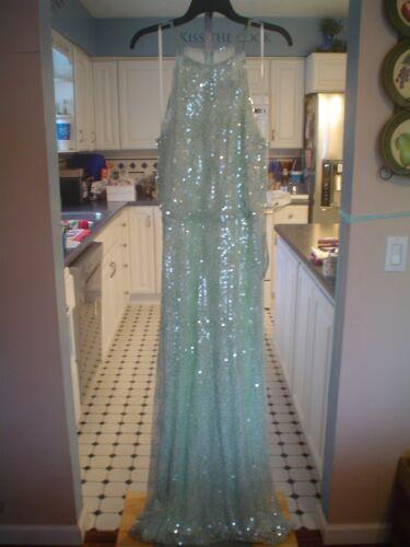 """B. Darlin """"Mint Sequin"""" Formal Dress – Size 16W – NWT"""