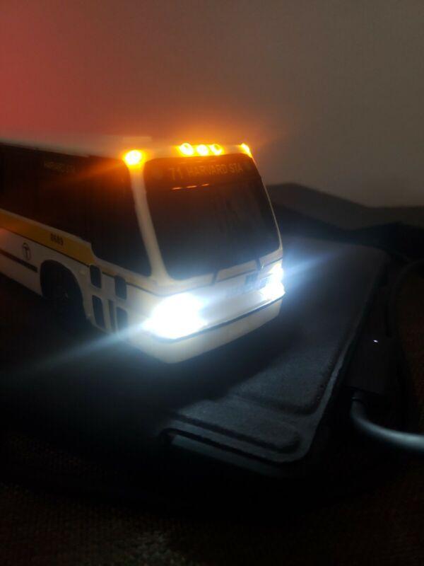 Boston MBTA RTS BUS WITH CUSTOM LIGHTS 1:50 Scale. #8689