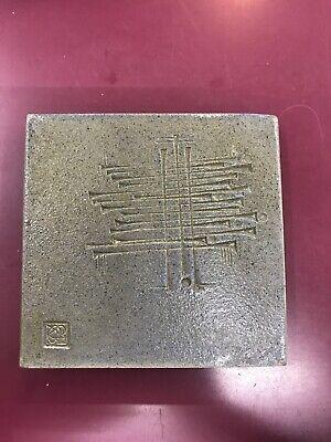 Paolo Soleri Arcosanti Modernist Ceramic Tile Stamped