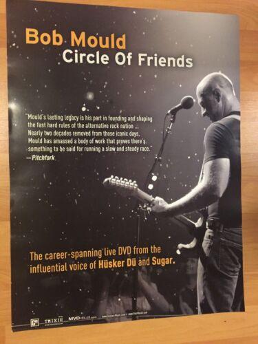 "Rare BOB MOULD Circle Of Friends Promo 18"" x 24"" Poster HUSKER DU Alternative"