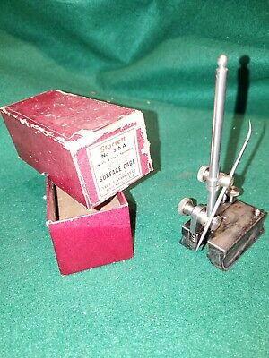 1950s Era Starrett Mini No.56a Hardened Toolmakers Surface Gage Wbox-mint Cond