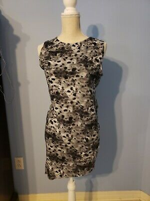 H&M Divided Womens Gray Animal Print Sleeveless Dress Size Large