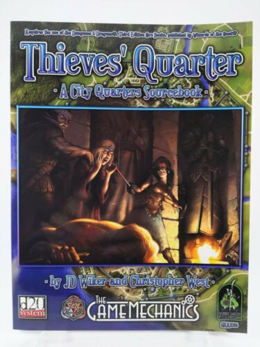 d20: Thieves Quarter - A City Quarters Campaign Sourcebook