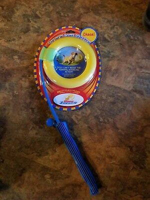 NATURE'S INSTINCT RING ZINGER SOFT DOG TOY CHASE & FETCH PARK GAME PLAY STICK