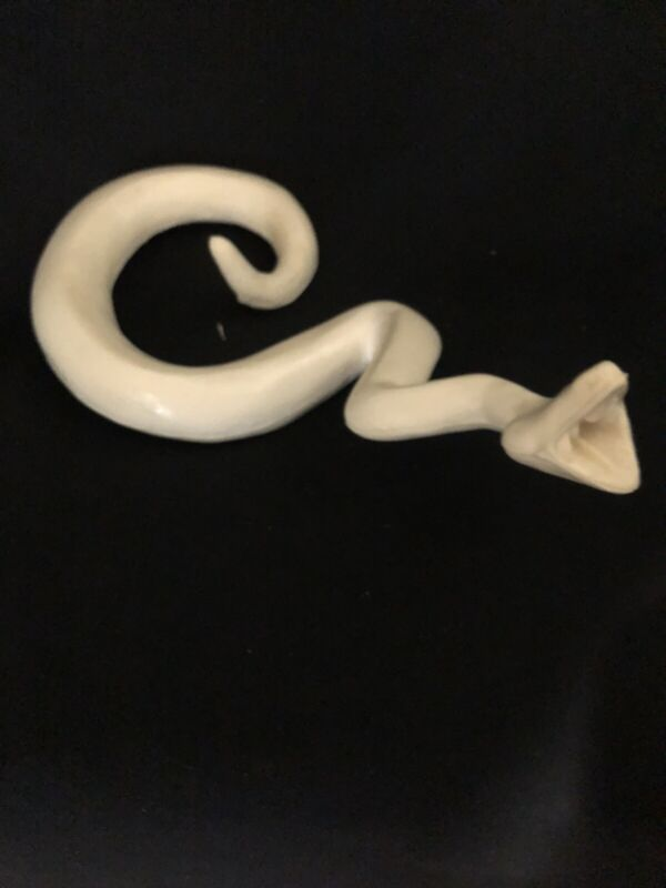 """Taxidermy Form Diamond Back Rattle Snake 5 1/4"""" X 35"""" Open Mouth."""